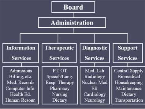 hospital organizational structure youtube