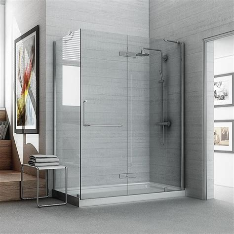 glas shower doors ove decors shelby 74 in h clear glass panel at lowes