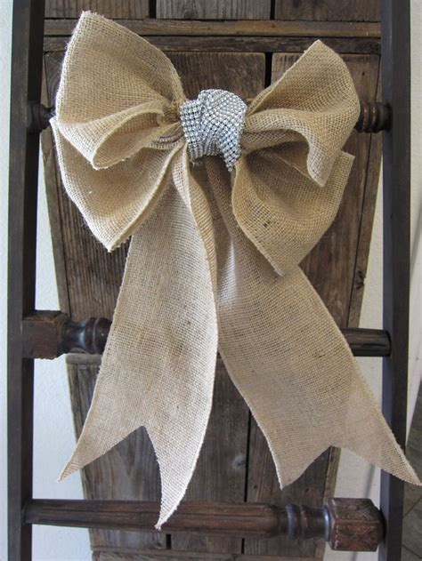 decoration chaise mariage burlap bow chair sash 12 00 via etsy it 39 s the most