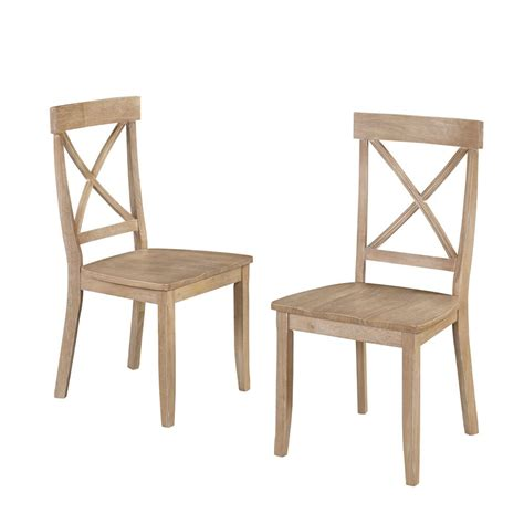 white wood dining home styles white wash wood x back dining chair set of 2