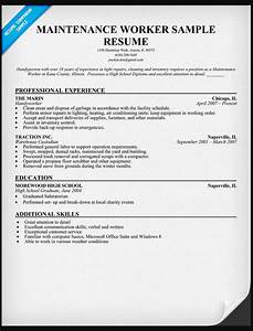 Resume Adjunct Professor General Maintenance Worker Resume Sample Ipasphoto