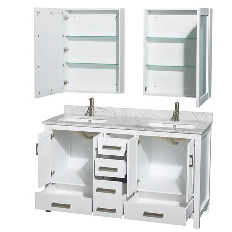 bathroom vanity 24 inch sheffield 60 inch sink bathroom vanity white finish