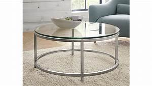 Era Round Glass Coffee Table Crate and Barrel