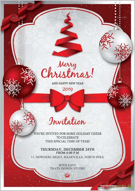 Christmas Invitation Template 26+ Free PSD EPS Vector