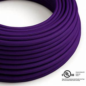 Violet Rayon Covered Round Electric Cable