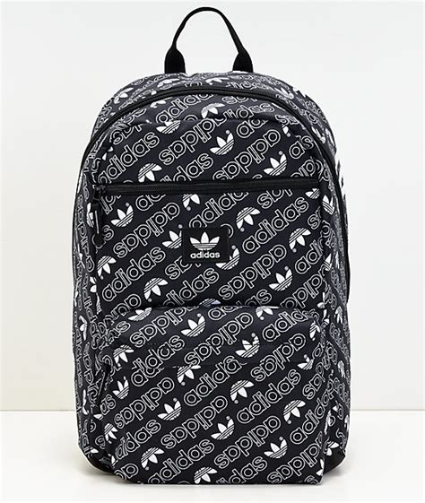 adidas aop national monogram black backpack zumiez