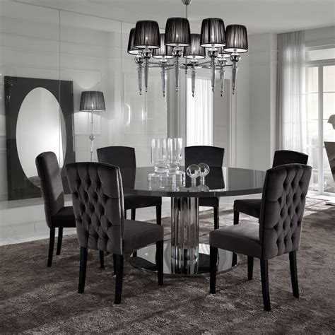 6 seater dining table sets modern designer chrome dining table