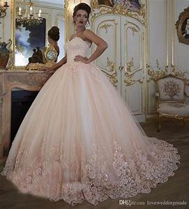 vintage blush pink ball gown wedding dresses 2017 turkey With pink sparkly wedding dresses