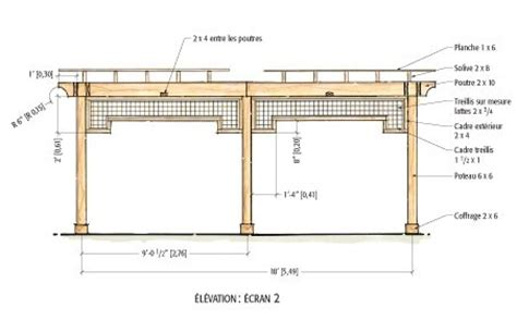 plan de construction dune pergola en bois