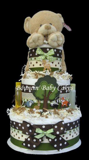 Cake Centerpieces For A Baby Shower by Enchanted Forest Animals Baby Shower Cake Centerpiece