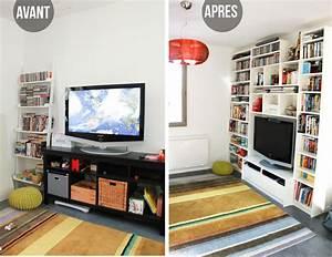 Bibliothèque Meuble Ikea : avant apr s notre biblioth que meuble t l ikea ~ Dallasstarsshop.com Idées de Décoration