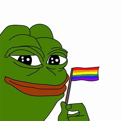Pepe Transparent Rainbow Flag Pepes Universe