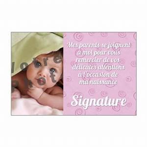 Quoi Offrir Pour Une Naissance : carte de remerciement pour une naissance imprimer ~ Melissatoandfro.com Idées de Décoration