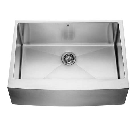 stainless steel farmhouse sink lowes shop vigo stainless steel single basin apron front
