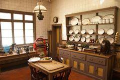 cuisine coloniale cuisine victorienne de style photo stock