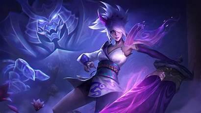 Riven Blossom Spirit League Legends Fan Background