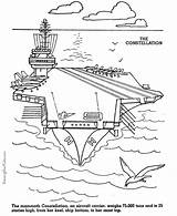 Coloring Carrier Aircraft Pages Military Navy Uss Printable Patriotic Armed Army Drawing Air Constellation Forces Colouring Ship Patrioticcoloringpages Crafts Sheets sketch template