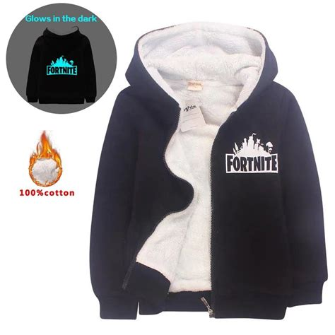 fortnite kids hoodies sweatshirts thick fleece jackets clothes