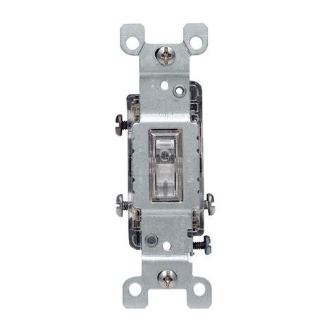 3 way light leviton 15 amp 3 way toggle light switch clear r50 01463