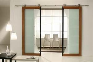 Porte A Galandage Double : la porte coulissante 19 exemples de portes cools et lissantes ~ Premium-room.com Idées de Décoration