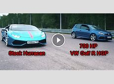 INSANE 700 HP VW Golf R HGP THINKS IT IS FASTER than