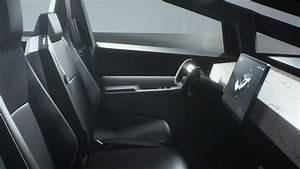 Tesla Cybertruck Electric Pickup Truck Interior with Touchscreen - MotorTrend