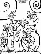 Coloring Birdhouse Pages Whimsical Adult Happy Bird Getcolorings Printable Brockway Getdrawings Doodle sketch template