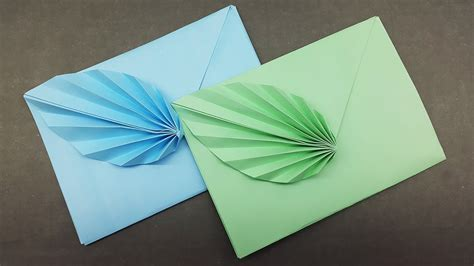 Download Easy Origami Envelope Making Tutorial Diy Paper Envelope With Leaf | TOOTAAL