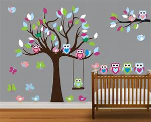vinyl wall decal on sale colorful nursery cute owl family With cute owl wall decals for nursery