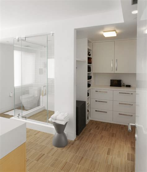 closet bathroom contemporary recessed walls my decorative