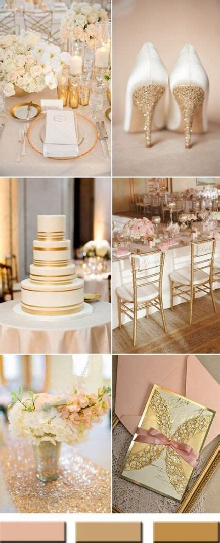 Wedding colors schemes champagne rose gold 41 ideas #