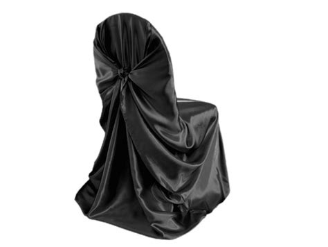cheapest rate black universal satin chair cover