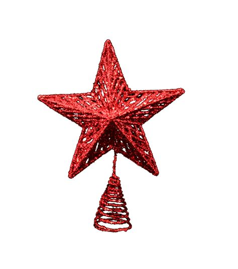 gisela graham red christmas tree topper gifts from