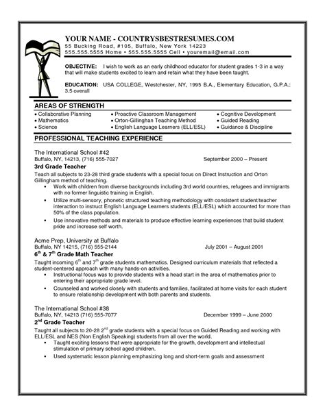 sle objective for preschool resume description for resume