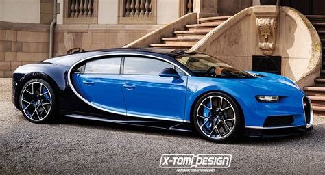 4 Door Bugatti Price by Bugatti Chiron Gets Pixel Injection Sprouts Two Doors