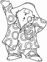 Paddington Coloring Tired Bear Colouring Drawings Sleeping Paddingtonbear sketch template