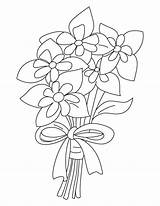 Columbine Bouquet Coloring Pages sketch template