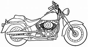 Printable Motorcycle Coloring Pages - AZ Coloring Pages