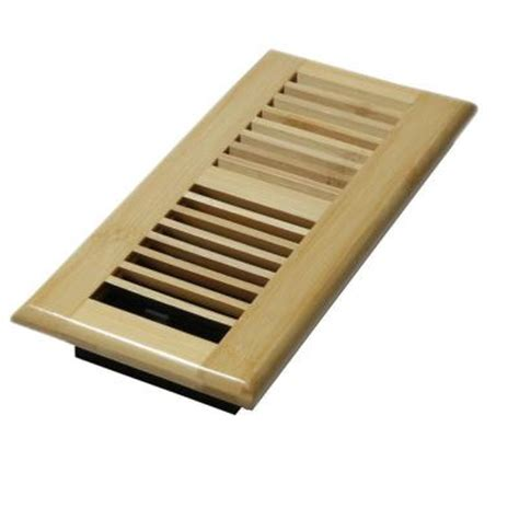 decor grates 4 in x 10 in wood natural bamboo louvered