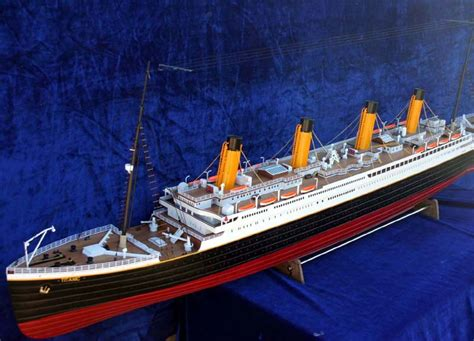 titanic scale to modern ships rc 1 150 scale rms titanic ready to run the scale modeler trains boats planes ships