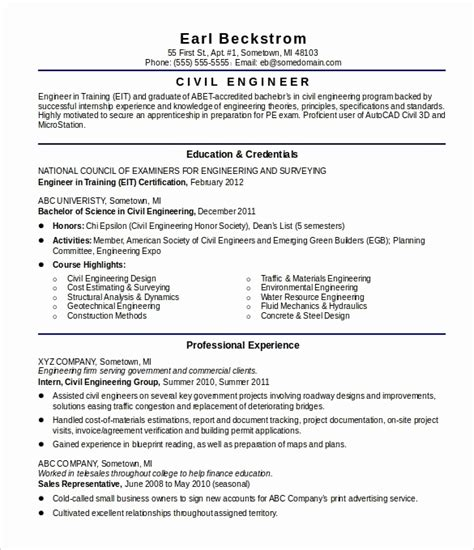 resume format for freshers civil engineers resume corner