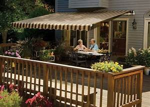 15 U0026 39  Sunsetter Retractable Motorized Awning In Acrylic
