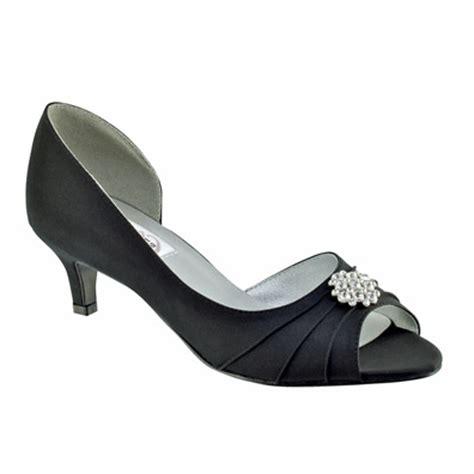 kim black satin  heel evening  prom shoes