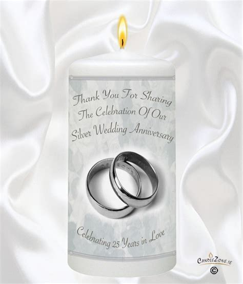 CandleZone.ie - 25th Wedding Anniversary Favour - Silver