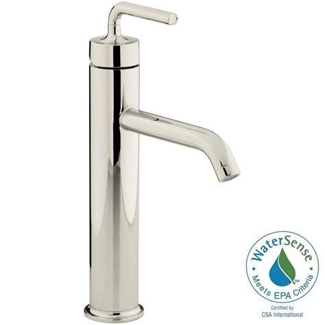 kohler vessel sink faucets kohler purist single hole single handle bathroom vessel