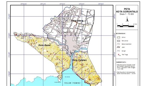 peta kota peta kota gorontalo