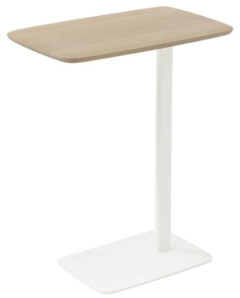 table d appoint ordinateur table d appoint ustensils h 63 cm pour ordi portable bois clair pied blanc arco