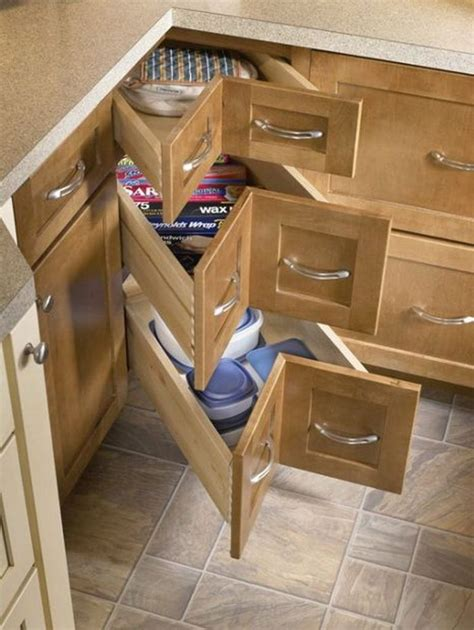 corner kitchen storage diy corner cabinet drawers the owner builder network 2615