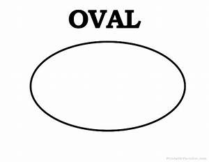 printable oval shape learning pinterest shapes With template for oval shape