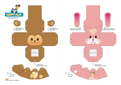 Paper Finger Puppets Templates by 20 Finger Puppet Papertoys Paper Fr